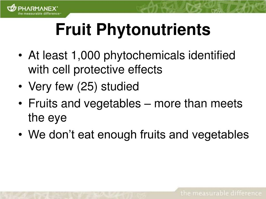 Fruit Phytonutrients