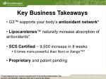 key business takeaways