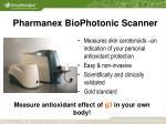 pharmanex biophotonic scanner