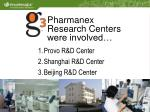 pharmanex research centers were involved