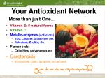 your antioxidant network