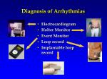 diagnosis of arrhythmias