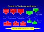 evolution of cardiovascular disease