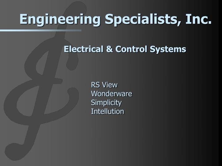 electrical control systems n.