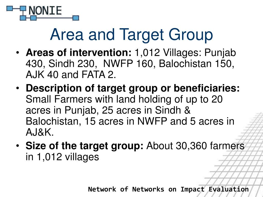 Area and Target Group