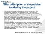 brief description of the problem tackled by the project