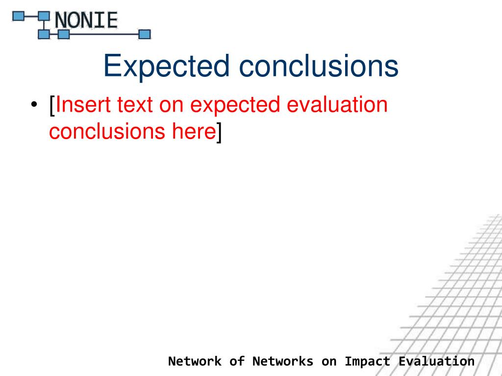Expected conclusions