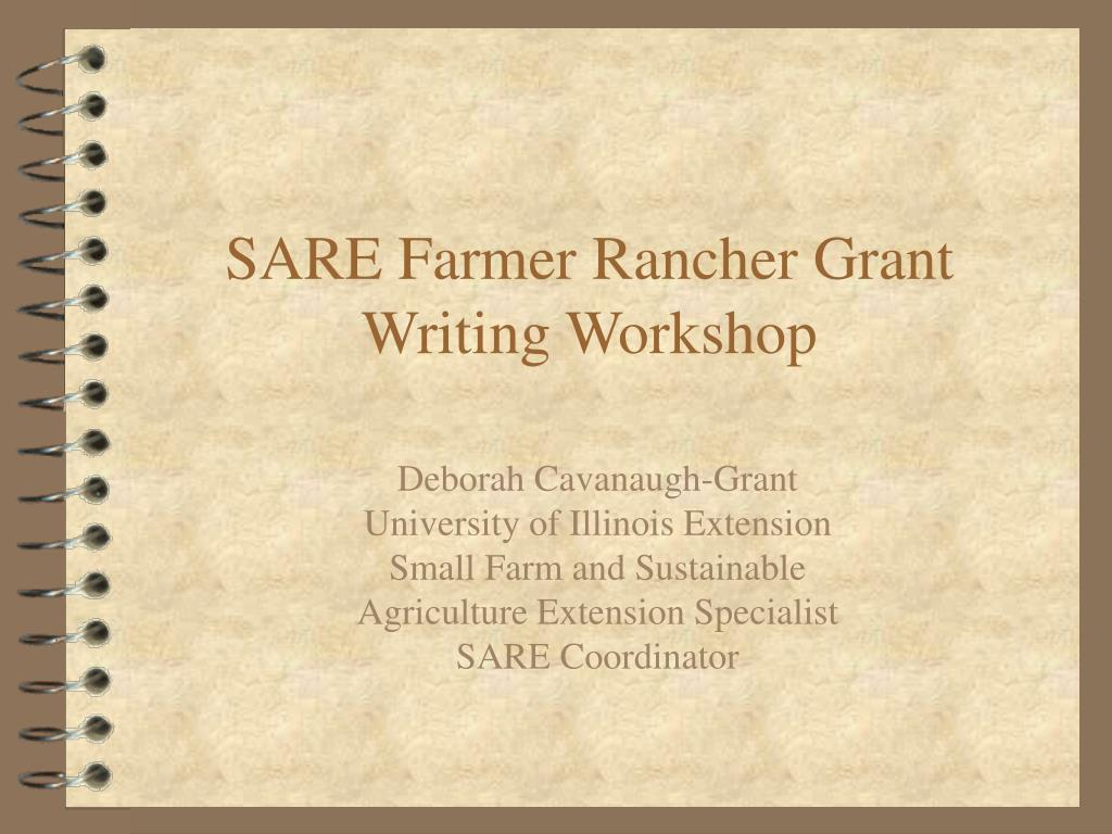 sare farmer rancher grant writing workshop l.