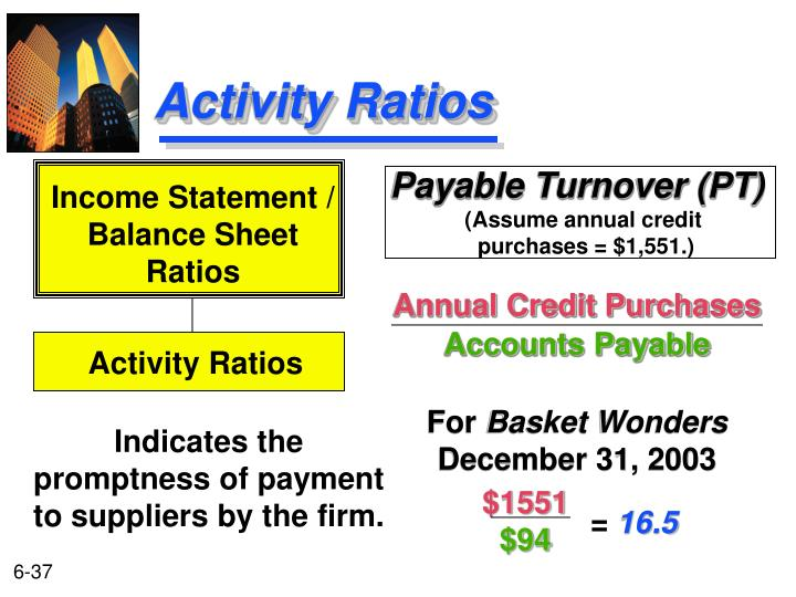 Payable Turnover (PT)