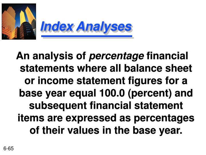 Index Analyses