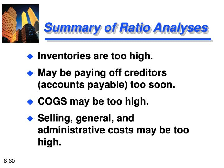 Inventories are too high.