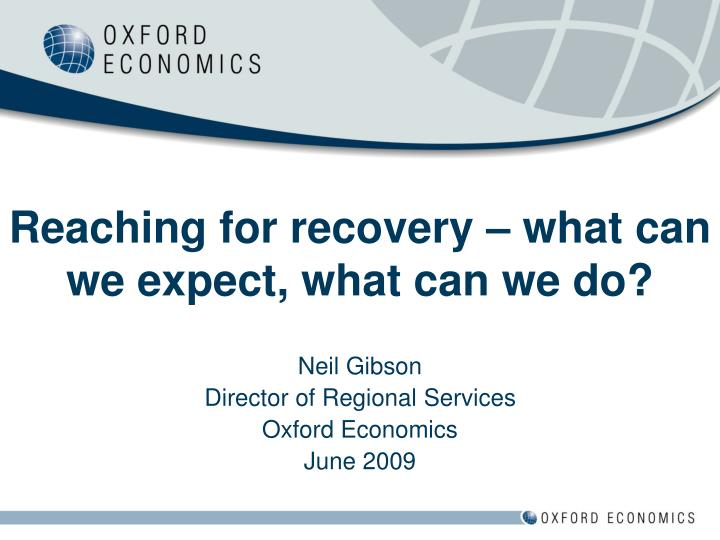 reaching for recovery what can we expect what can we do n.