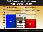 california legislature 2009 2010 senate
