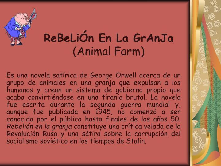 Rebeli n en la granja animal farm