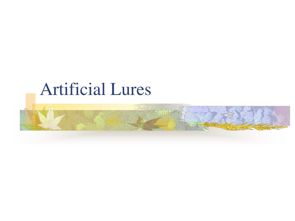 artificial lures l.