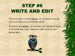 step 6 write and edit