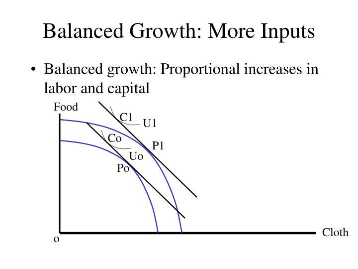 Balanced Growth: More Inputs