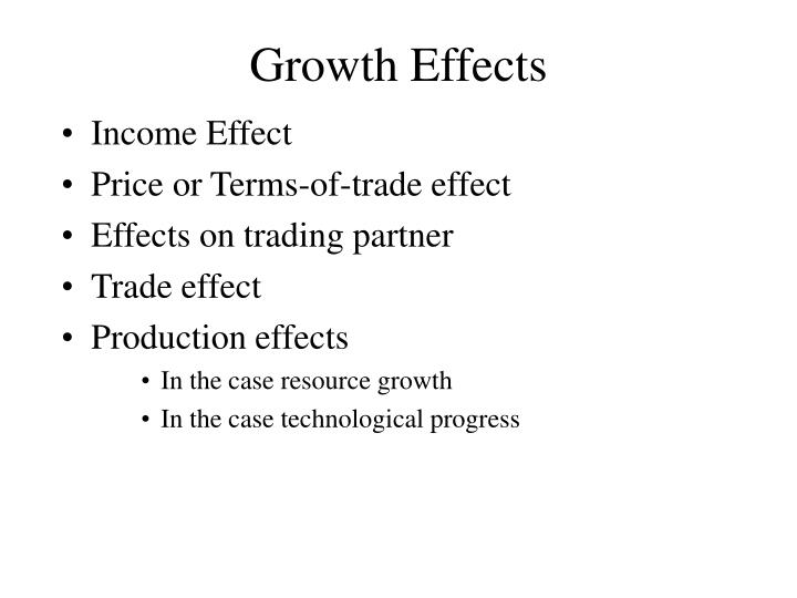 Growth Effects