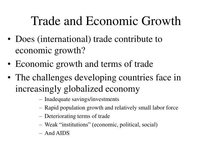 Trade and economic growth