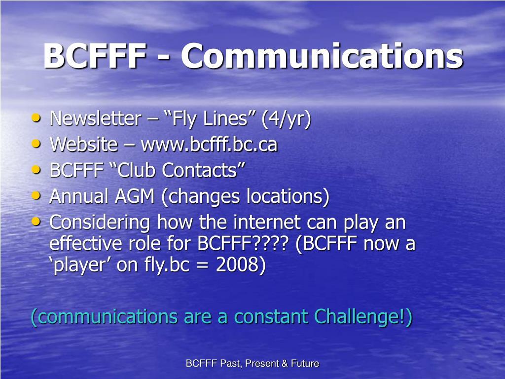 BCFFF - Communications