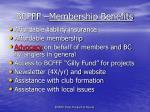 bcfff membership benefits