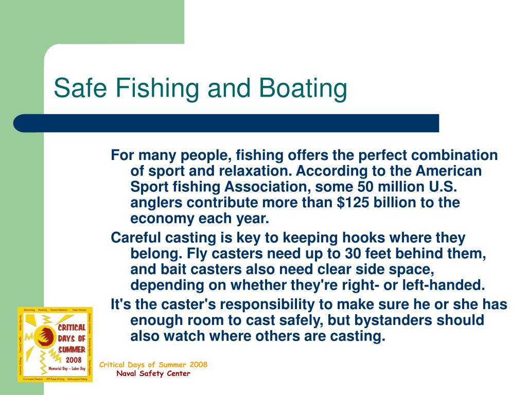 safe fishing and boating l.