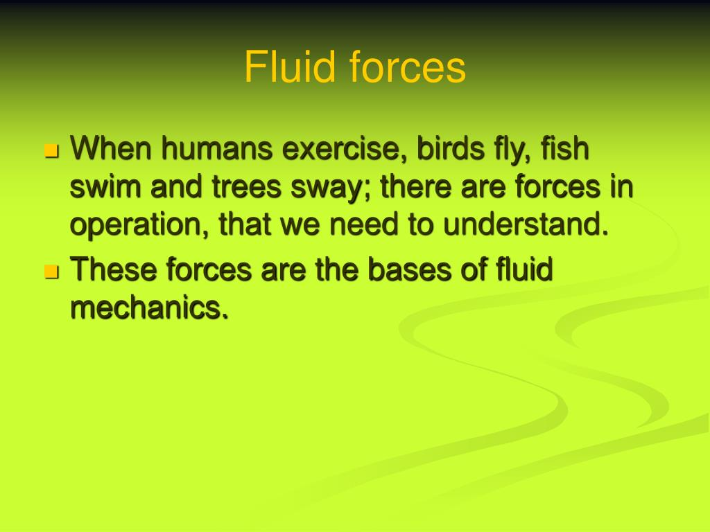 fluid forces l.