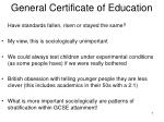 general certificate of education7