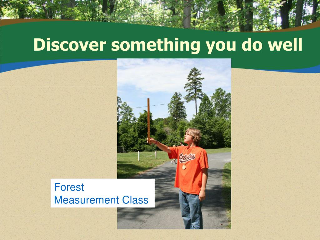 Discover something you do well