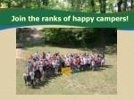 join the ranks of happy campers