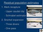 residual population estimates