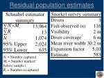 residual population estimates24