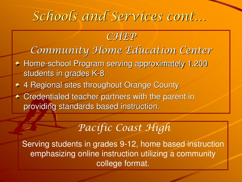 Schools and Services cont…