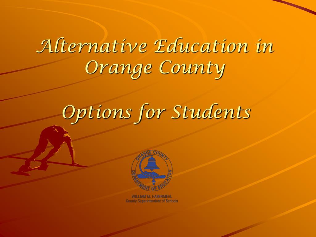 Alternative Education in