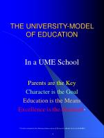 the university model of education
