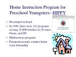 home instruction program for preschool youngsters hippy