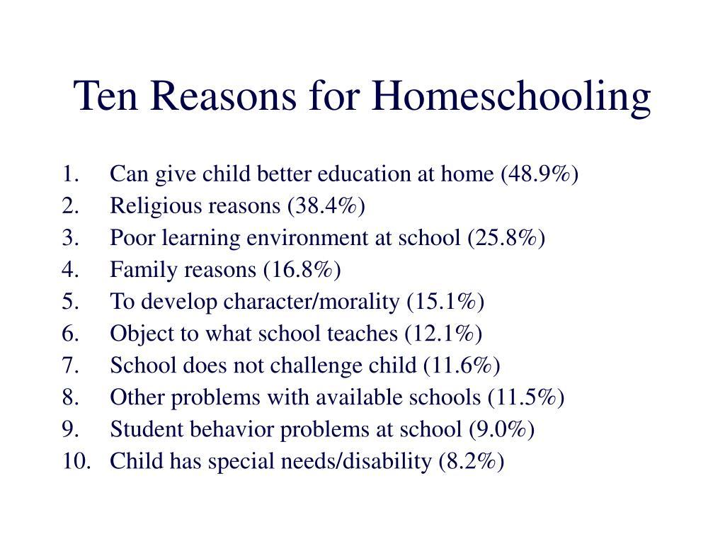 Ten Reasons for Homeschooling