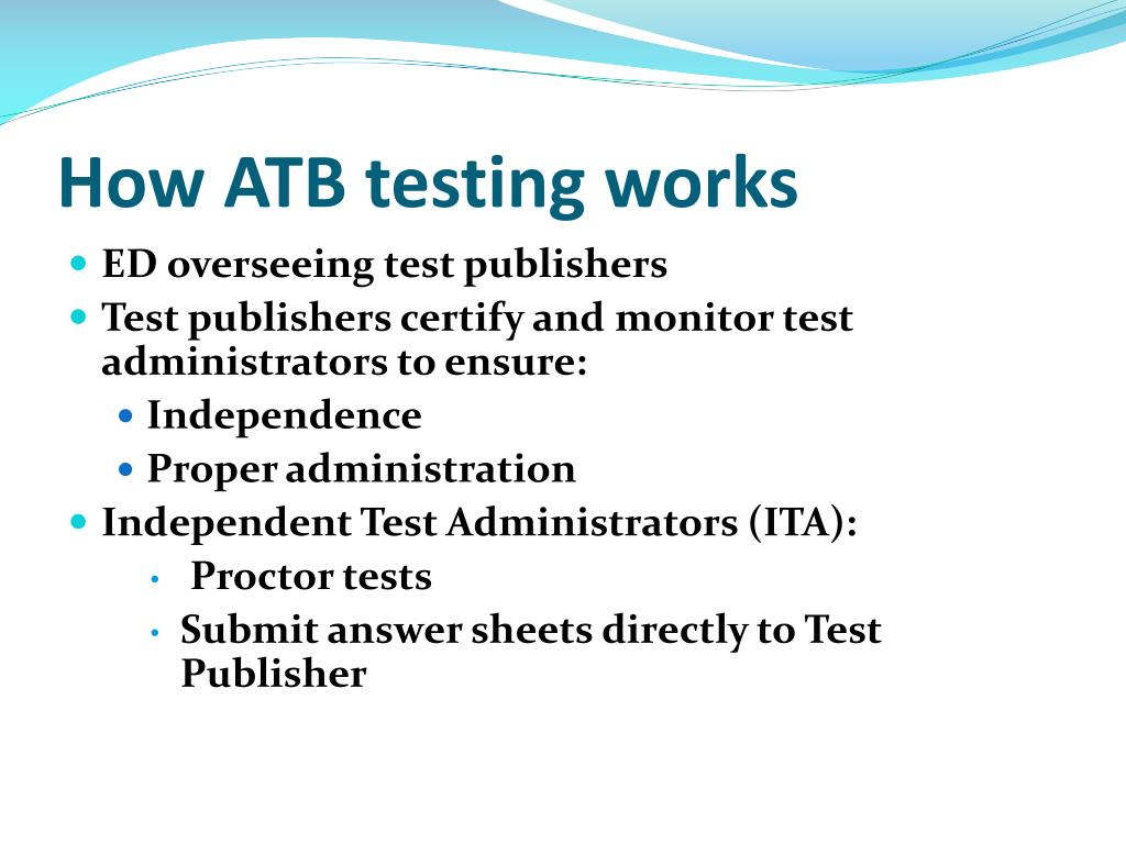 How ATB testing works