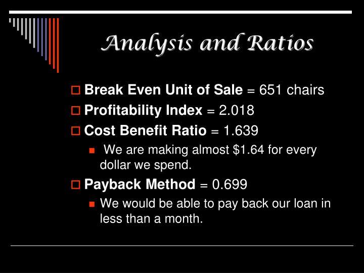 Analysis and Ratios