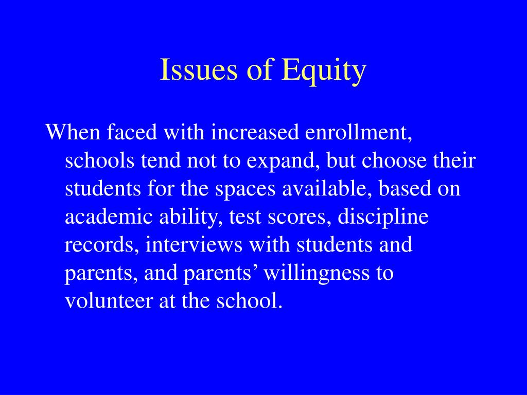 Issues of Equity