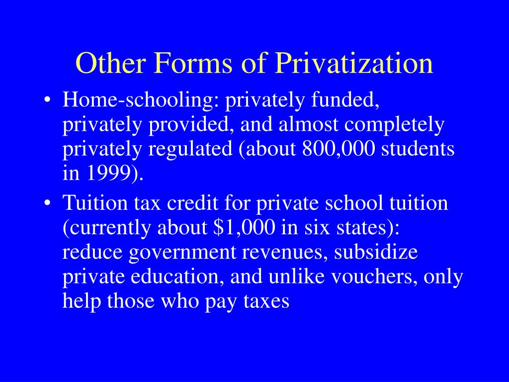 Other Forms of Privatization
