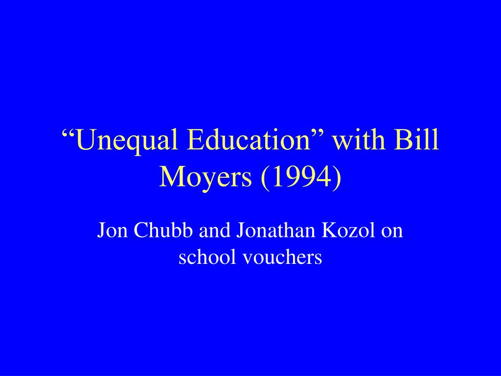 """Unequal Education"" with Bill Moyers (1994)"