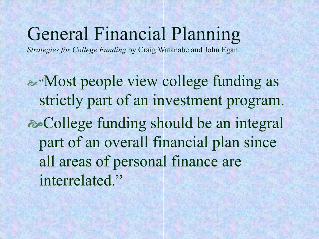 General Financial Planning