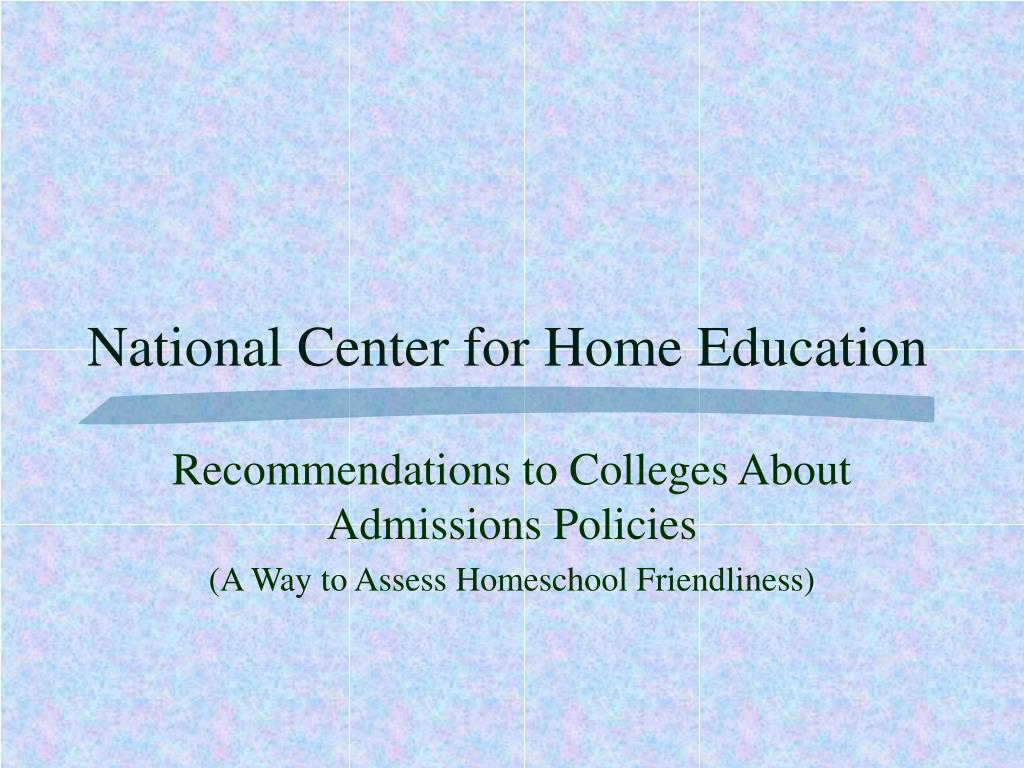 National Center for Home Education