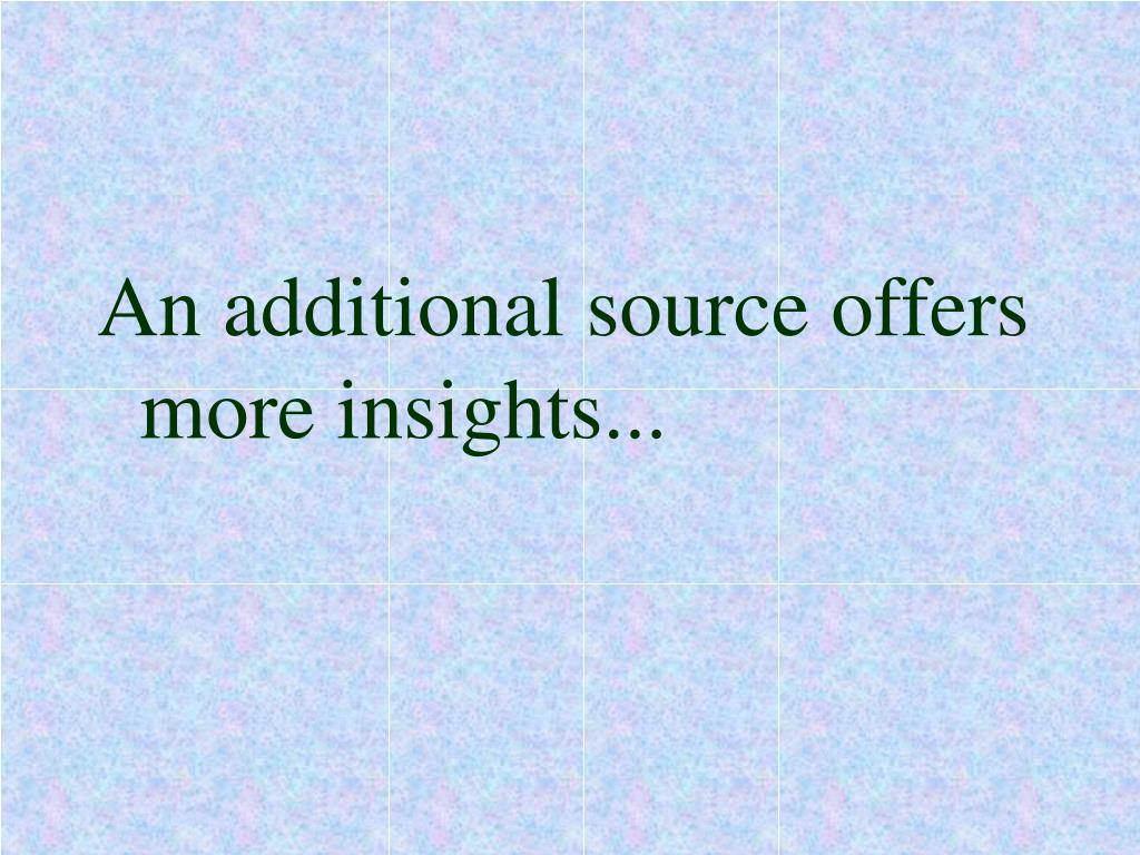 An additional source offers more insights...
