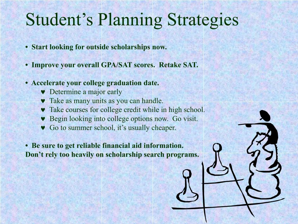 Student's Planning Strategies