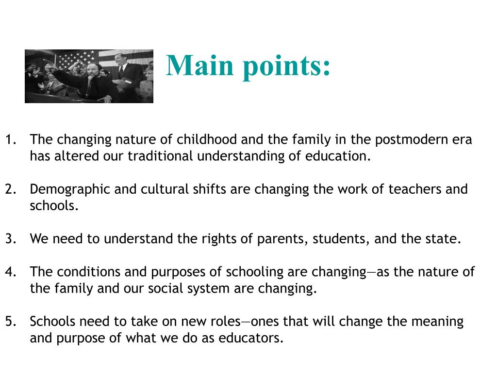 Main points: