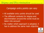 campaign entry points can vary