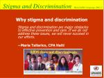 why stigma and discrimination