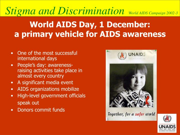 world aids day 1 december a primary vehicle for aids awareness